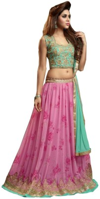Dealfiza Georgette Embroidered Lehenga Choli Material