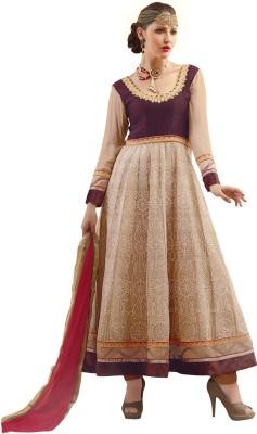 Manjubaa Georgette Self Design Salwar Suit Dupatta Material