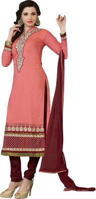 Vastrani Cotton Silk Blend Embroidered Dress/Top Material