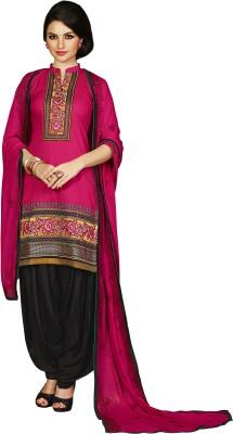 Kvsfeb Cotton Embroidered Salwar Suit Dupatta Material(Un-stitched) at flipkart