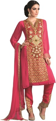 Kashish Lifestyle Georgette Embroidered Semi-stitched Salwar Suit Dupatta Material
