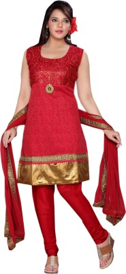 khadibhavan Synthetic Georgette Embroidered Salwar Suit Dupatta Material