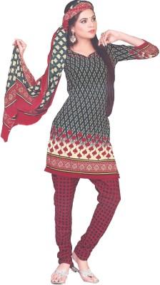 Amin Cotton Polyester Blend Printed Salwar Suit Dupatta Material