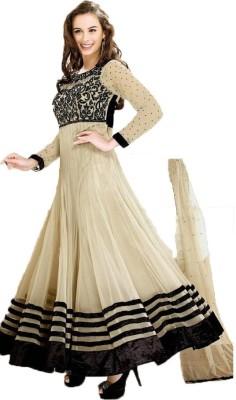 Shringaar Fashion Georgette Embroidered Semi-stitched Salwar Suit Dupatta Material