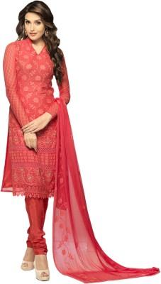 Whatshop Chiffon Self Design Salwar Suit Dupatta Material