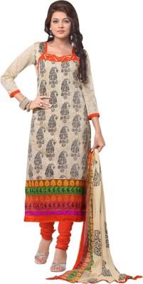 Saara Cotton Embroidered Dress/Top Material(Un-stitched) at flipkart