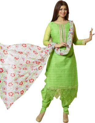 Prachi Silk Mills Cotton Embroidered Salwar Suit Dupatta Material