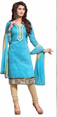 Aasvaa Chanderi Printed Salwar Suit Dupatta Material