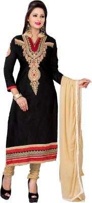 Blissta Cotton Embroidered, Self Design Dress/Top Material