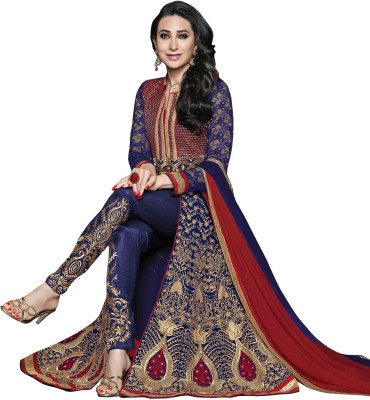 Luxuria Net Embroidered Salwar Suit Dupatta Material