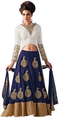 Rudra Fashion Embroidered Women's Lehenga, Choli and Dupatta Set