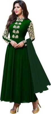 Shreeji Fashion Georgette Self Design Semi-stitched Salwar Suit Dupatta Material