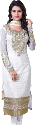 Stella Creation Cotton Embroidered Semi-stitched Salwar Suit Dupatta Material