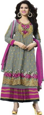 Aahira Georgette Self Design Semi-stitched Salwar Suit Dupatta Material