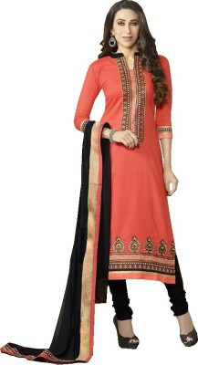 Fashion Ritmo Cotton Embroidered Salwar Suit Dupatta Material