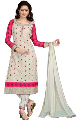 MADA Georgette Embroidered Semi-stitched Salwar Suit Dupatta Material
