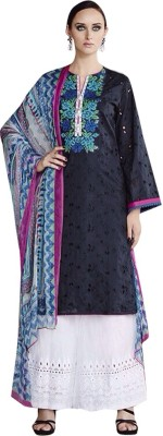 Lagan Cotton Embroidered, Printed Salwar Suit Dupatta Material