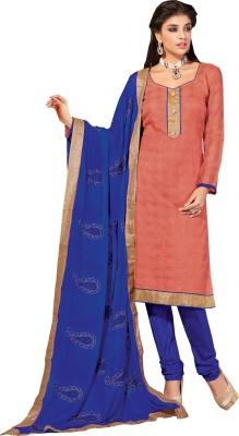 Parisha Chanderi Embroidered Salwar Suit Dupatta Material