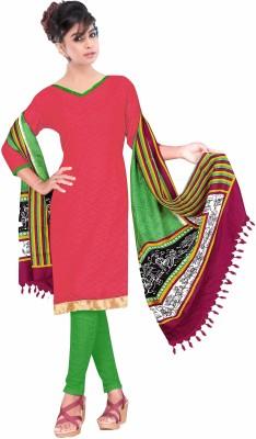 Aasvaa Jacquard Embroidered Salwar Suit Dupatta Material