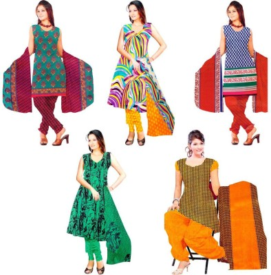 OTC Polyester Printed Salwar Suit Material