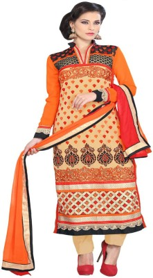 Online Fashion Marts Georgette Embroidered Salwar Suit Dupatta Material