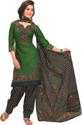 Parchayee Cotton Printed Salwar Suit Dupatta Material(Un-stitched) at flipkart