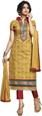 Surat Dream Chanderi, Cotton Embroidered Salwar Suit Dupatta Material