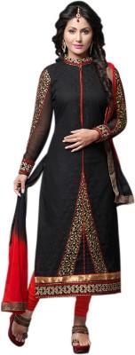 Li Te Ra Cotton Embroidered Semi-stitched Salwar Suit Dupatta Material