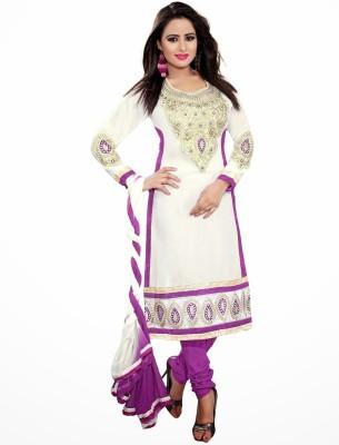 Nilkanth Communication Chiffon Embroidered Semi-stitched Salwar Suit Dupatta Material