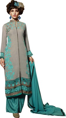 Ayana Georgette Embroidered Semi-stitched Salwar Suit Dupatta Material