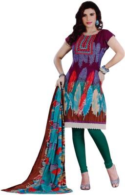 Vamakshi Cotton, Chiffon Printed Salwar Suit Dupatta Material