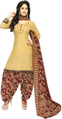Salwar Studio Cotton Printed, Polka Print, Geometric Print Salwar Suit Dupatta Material