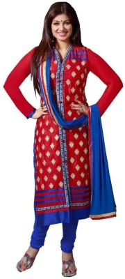 Nilkanth Communication Cotton Embroidered Semi-stitched Salwar Suit Dupatta Material