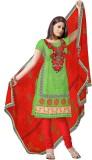 Sre Chanderi Embroidered, Printed Salwar...