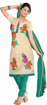 BLUEFLY FASHION Jute Embroidered Salwar Suit Dupatta Material
