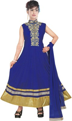 Sunrise International Net Embroidered Semi-stitched Salwar Suit Dupatta Material