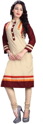Ecoco Fashion Cotton Self Design Kurti Fabric