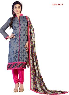Shaili Chanderi Self Design Semi-stitched Salwar Suit Dupatta Material