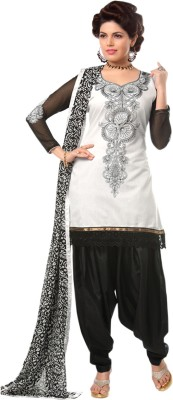Zeekty Fashion Chanderi Embroidered Dress/Top Material