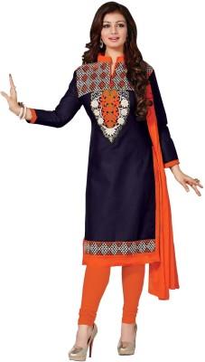 siya designer Cotton Embroidered Semi-stitched Salwar Suit Dupatta Material