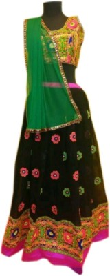 mGm Creation Georgette Self Design Semi-stitched Lehenga Choli Material