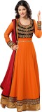 Desi Look Georgette Self Design, Solid S...