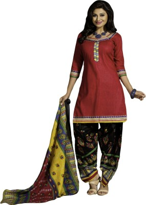 Typify Cotton Embroidered Salwar Suit Dupatta Material