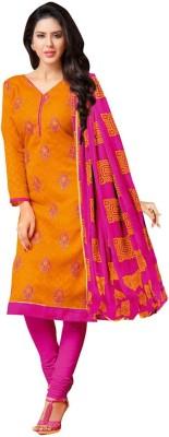 Akshaya Fashons Jacquard Embroidered Salwar Suit Material
