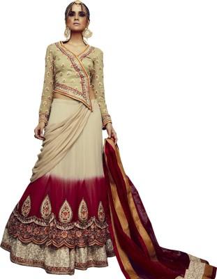 Style Mania Georgette Embroidered Lehenga Choli Material