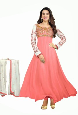 Bavali Creation Georgette Embroidered Semi-stitched Salwar Suit Dupatta Material