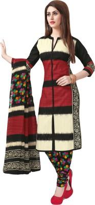 Salwar Studio Cotton Printed Salwar Suit Dupatta Material(Un-stitched) at flipkart