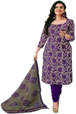Aditya Creation Cotton Printed, Self Design, Solid Salwar Suit Dupatta Material