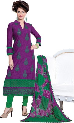 Style Mania Jacquard Embroidered Semi-stitched Salwar Suit Dupatta Material