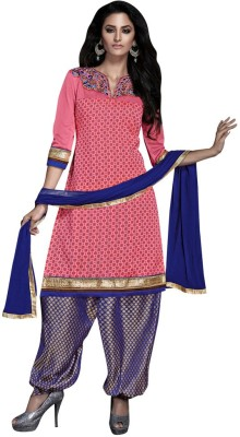 Viva N Diva Silk Embellished Salwar Suit Dupatta Material